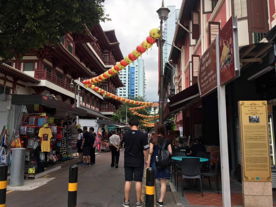 中華圏らしい街並みも