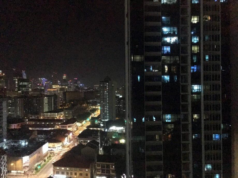 從高樓層的住宿地方向外眺望到的景色。